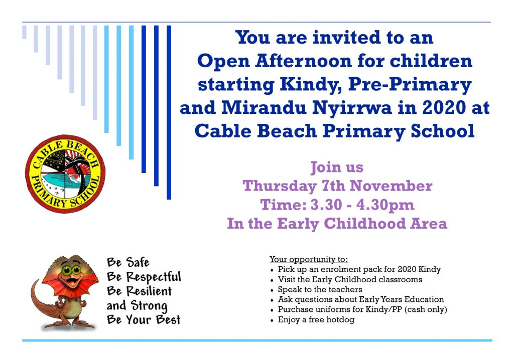 Open Afternoon Invite